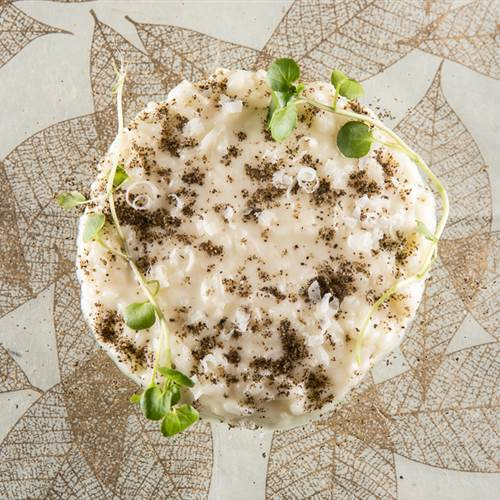 Risotto with Cacio Cheese, Pepper and Sesame